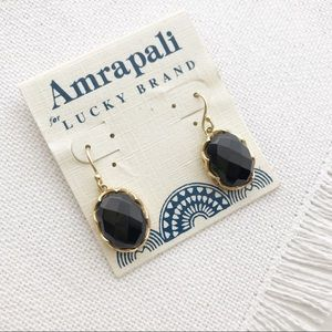 Amrapali LUCKY BRAND Gold & Black Faceted Earrings